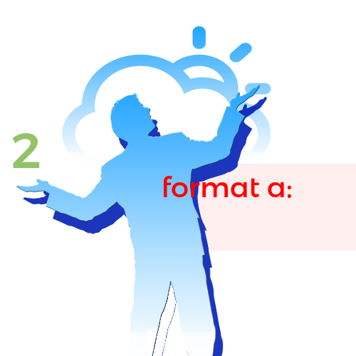 02. format a: